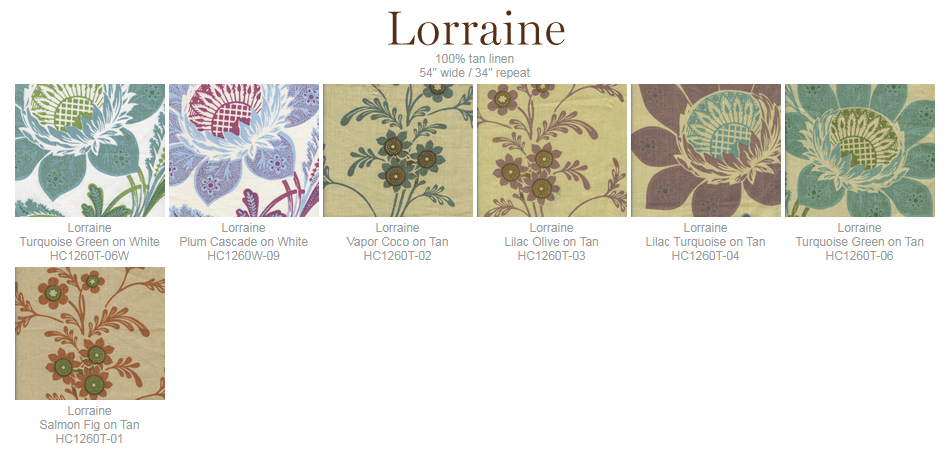 Home Couture Lorraine fabric group