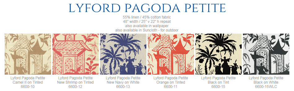 China Seas Lyford Pagoda Petite fabric group