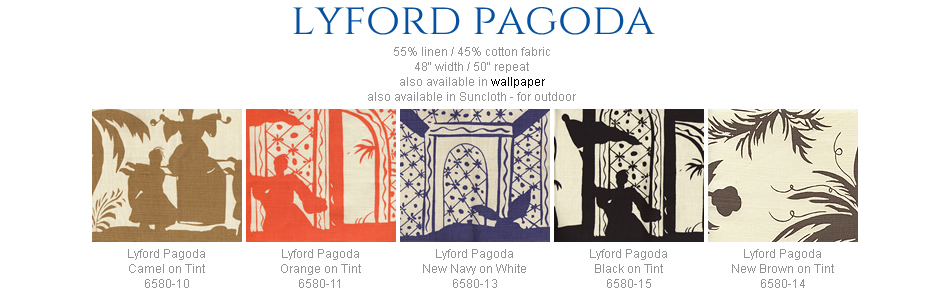 China Seas Lyford Pagoda fabric group