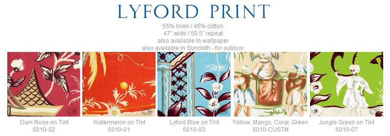China Seas Lyford Print fabric group