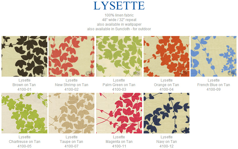 China Seas Lysette fabric group