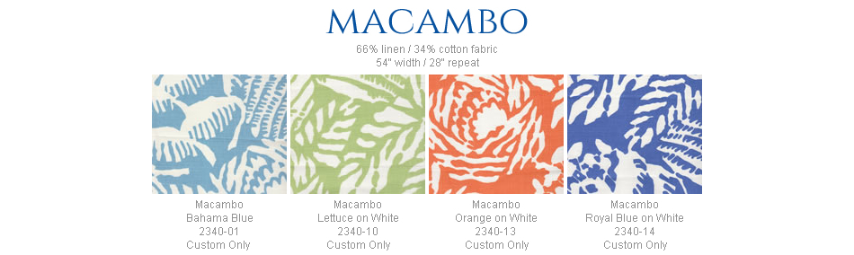 China Seas Macambo fabric group