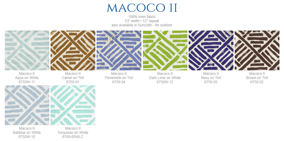 Awesome China Seas Macoco Ii Window Seat And Pillow Onthecornerstone Fun Painted Chair Ideas Images Onthecornerstoneorg