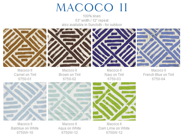 China Seas Macoco II fabric group