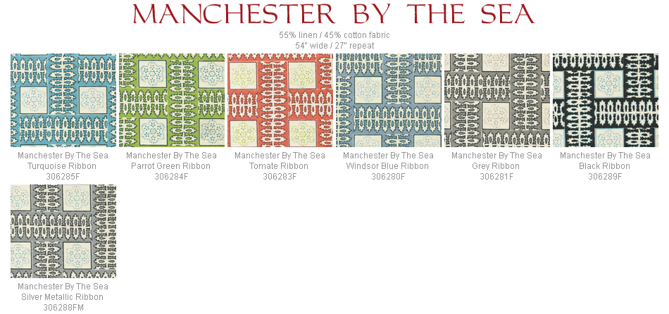 Quadrille Manchester By The Sea fabric group