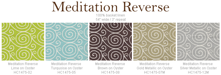 Home Couture Meditation Reverse fabric group