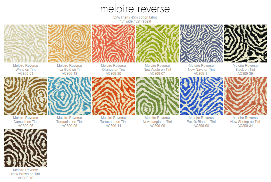 Alan Campbell Meloire Reverse fabric group