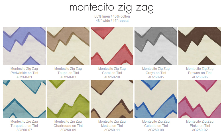 Alan Campbell Montecito Zig Zag fabric group