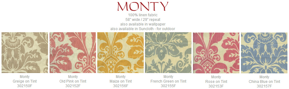 Quadrille Monty fabric group
