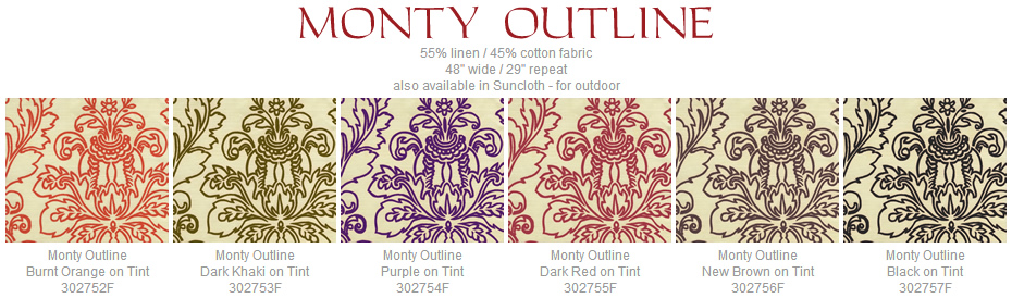 Quadrille Monty Outline fabric group