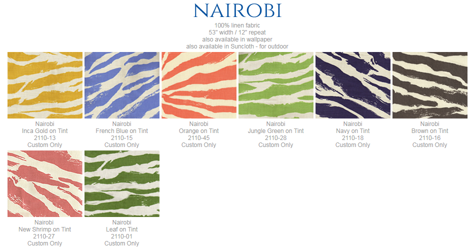 China Seas Nairobi fabric group