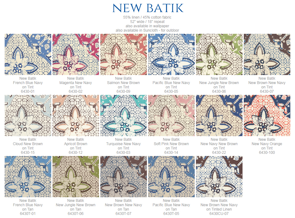 China Seas New Batik fabric group