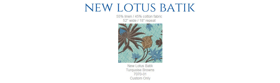 China Seas New Lotus Batik