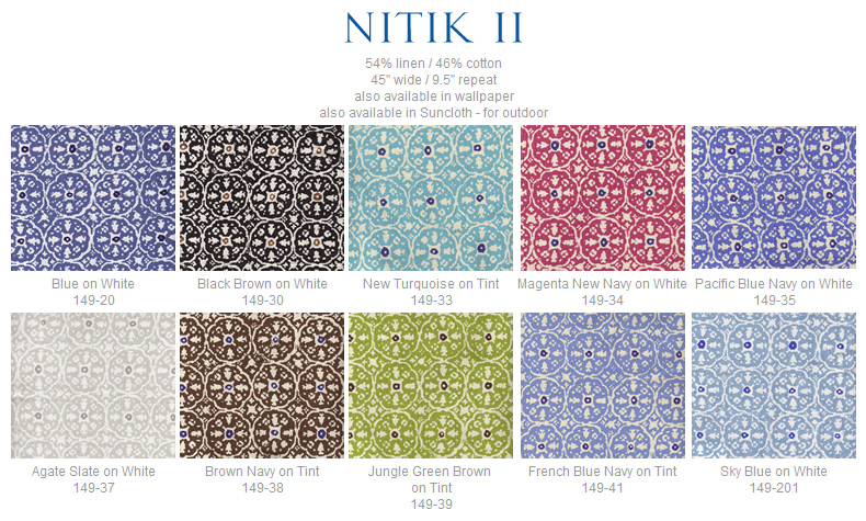 China Seas Nitik II fabric group
