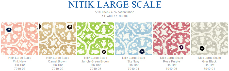 China Seas Nitik Large Scale fabric group