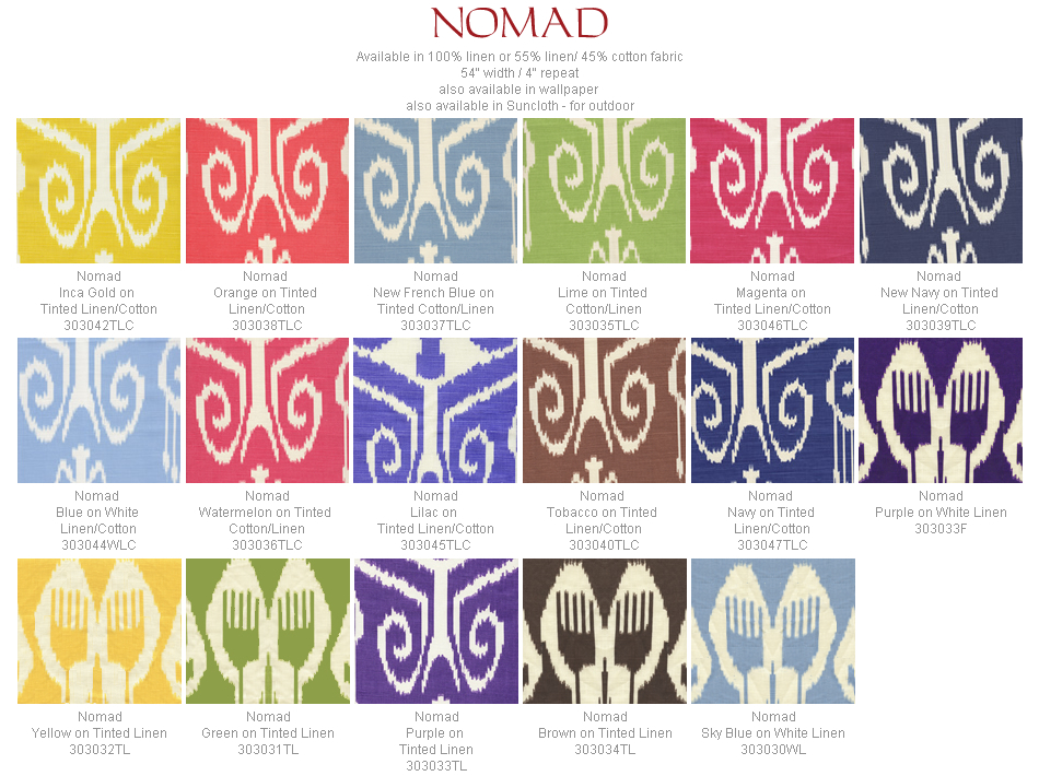 Quadrille Nomad fabric group