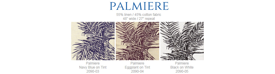 China Seas Palmiere fabric group