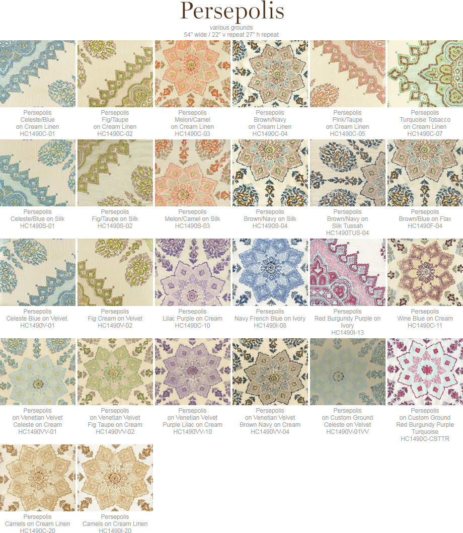 Home Couture Persepolis fabric group
