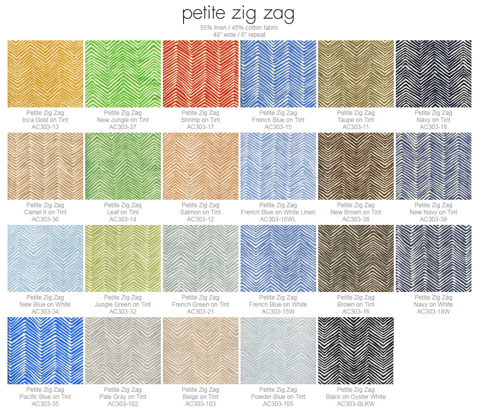 Alan Campbell Petite Zig Zag fabric group