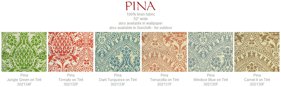 Quadrille Pina fabric group