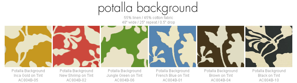 Alan Campbell Potalla Background fabric group