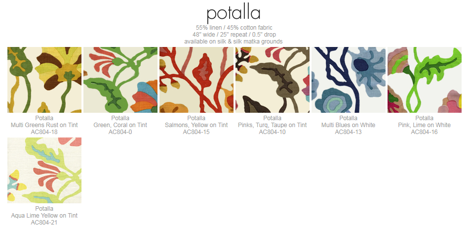 Alan Campbell Potalla fabric group