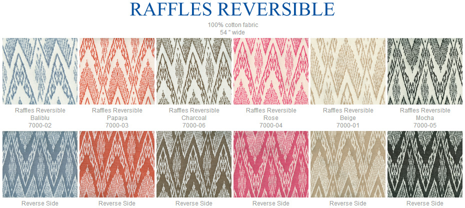 China Seas Raffles Reversible fabric group