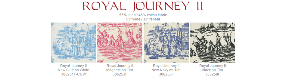 Quadrille Royal Journey II fabric group