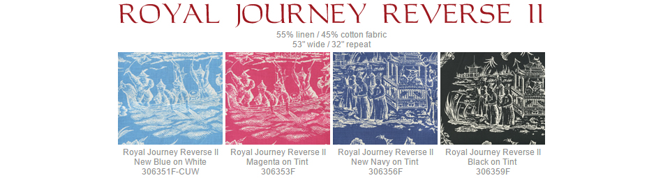 Quadrille Royal Journey Reverse II fabric group