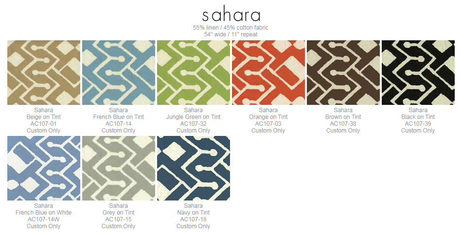 Alan Campbell Sahara fabric group