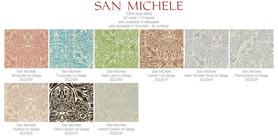 Quadrille San Michelle fabric group
