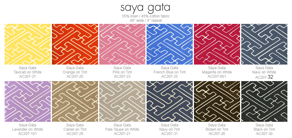 Alan Campbell Saya Gata fabric group