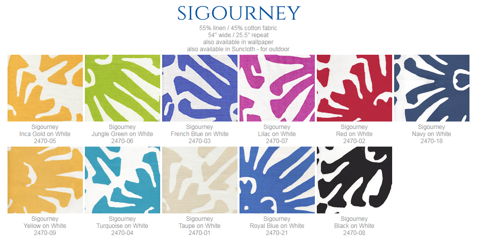 China Seas Sigourney fabric group