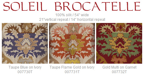 Quadrille Soleil Brocatelle fabric group