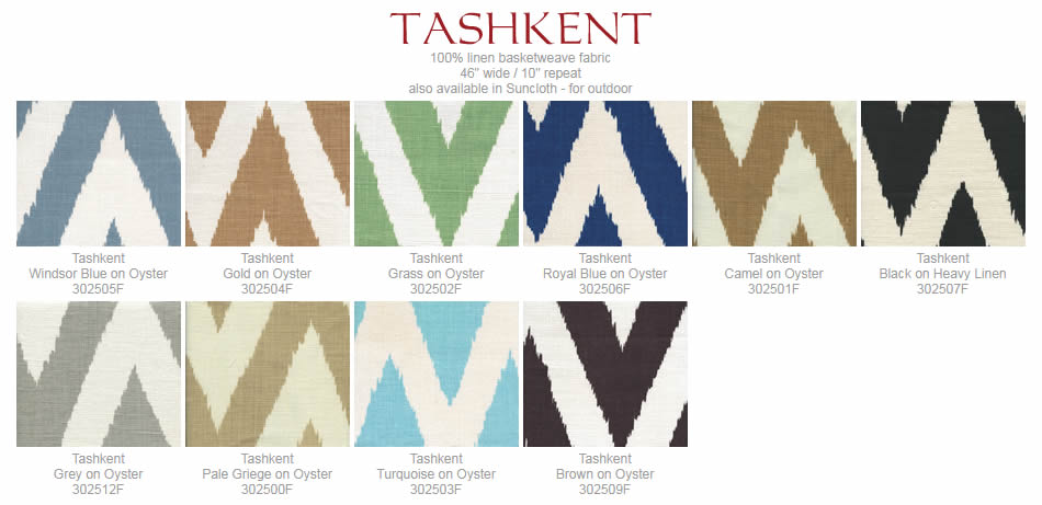 Quadrille Tashkent fabric group