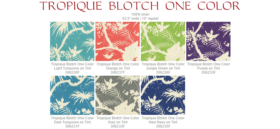 Quadrille Tropique fabric group