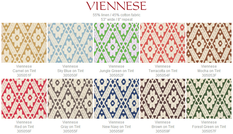 Quadrille Viennese fabric group