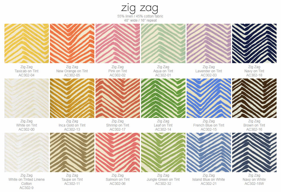 Alan Campbell Zig Zag fabric group