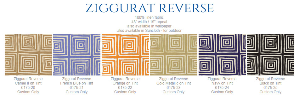 China Seas Ziggurat Reverse fabric group