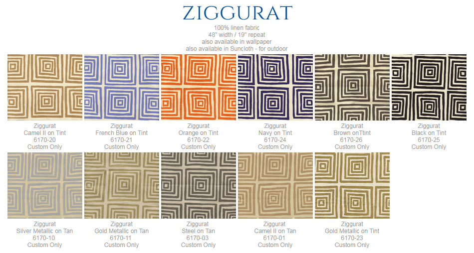 China Seas Ziggurat fabric group