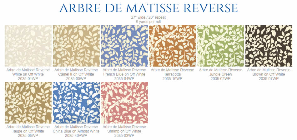 China Seas Arbre de Matisse wallpaper group