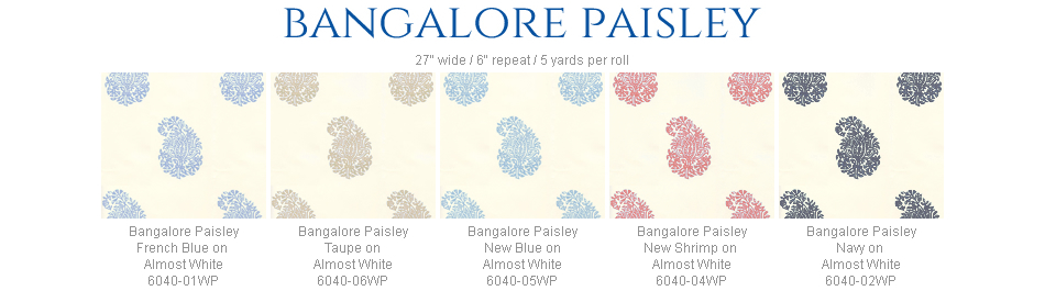 China Seas Bangalore Paisley wallpaper group