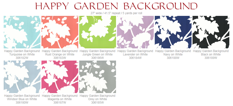 Quadrille Happy Garden Background wallpaper group