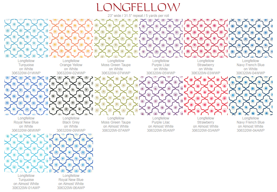 Quadrille Longfellow wallpaper group