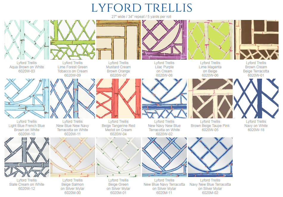 China Seas Lyford Trellis Wallpaper