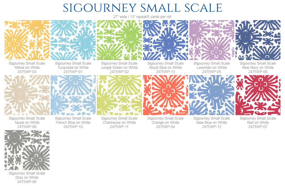 China Seas Sigourney Small Scale Wallpaper Group