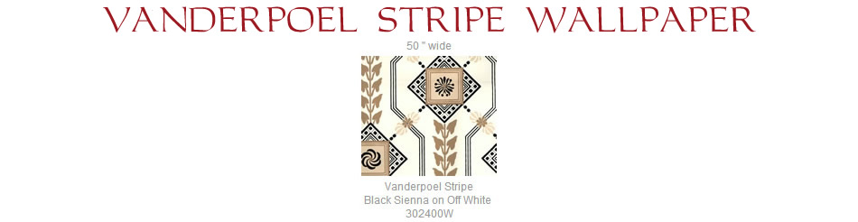Quadrille Vanderpoel Stripe wallpaper group