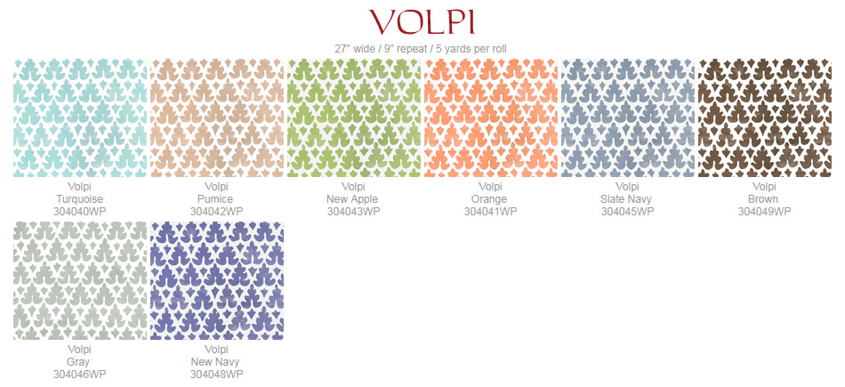 Quadrille Volpi wallpaper group